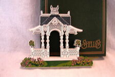 Sheila's 1996 Collectible Victorian Building Accessory Fretwork GAZEBO w/ Box