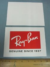 RAY BAN genuine since 1937 promotional dealer counter display card ~NEW~!!