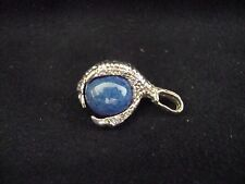 VINTAGE STERLING SILVER DRAGON CLAW GRASPING POWER/ HEALING LAPIS BALL PENDANT