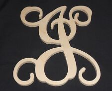 "18"" Wooden Vine Letter Unfinished wood letters Room Decor Childrens Room"