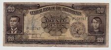 Filippine Philippines 20 pesos   1949  MB  Poor    pick 137b   lotto 1638