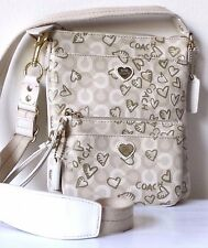 COACH Waverly Hearts Crossbody and Wristlet Set 2 PC Very Cute Collection