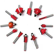 """15pc 1/4"""" Router Bit Set Shank Tungsten Carbide Rotary Tool"""