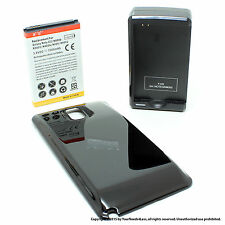 7000mAh Extended Battery for Samsung Galaxy Note 3 N9000 Black Cover Dock