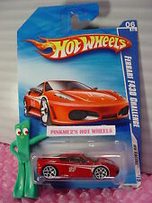 vhtf 2010 Hot Wheels FERRARI F430 CHALLENGE #154 US ☆Red; white y5; 14☆☆Racing