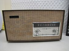 Original Condition Plays Fine GE T190A Musaphonic Tube AM Radio Sound is Good