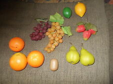 13 piece lot of realistic apples fake/play food Fruit