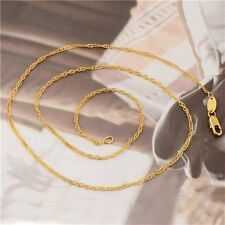 Fashion Jewelry 14K Gold Filled Womens Water Wave Chain Necklace,17.9 Inch