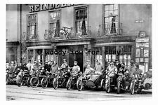 pt9647 - Doncaster Motor Cycles Reindeer Hotel Hall Gate Yorkshire - photograph