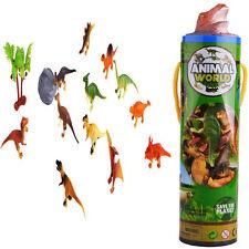 Lot 12pc Plastic Dinosaur Animal Mini Model Action Figures Kids Toy Xmas Gift