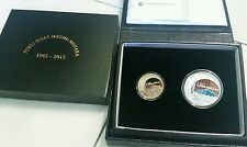 2015 50years jubilee jubili emas masjid negara proof coin set of 2  sn 1785