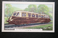 Great Western Railways Streamlined Diesel Railcar   1930's Vintage Card