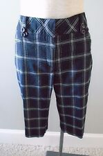 Swing Golf Shorts 10 New with Tags Black Green Grey Gray Plaid Pants Bette Court