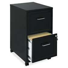 "Lorell SOHO 18"" 2-Drawer Mobile File Cabinet  LLR16872  Black"