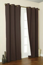2 PANELS CHOCOLATE NOT SEE THROUGH BLACKOUT GROMMET WINDOW CURTAIN DRAPE K92