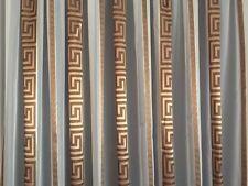 Gardinenstoffe  Store Vorhang Stoff Voile Weiß Versace Muster Braun / Gold