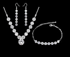 Wedding Jewelry Set Swarovski Crystal Elements Xmas Necklace Bracelet Earrings