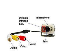 Mini Hidden Surveillance CCTV Spy Nanncy Camera Pinhole 420TV AV Audio Sharp