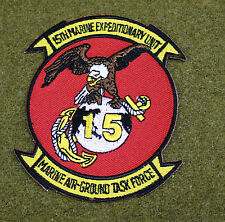 16575) Patch 15th Marines Expeditionary Unit MEU Task Force USMC Military