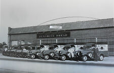"12 By 18"" Black & White Picture Ford 1930-31 - Sunshine Bread Panel trucks"