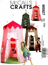 McCall's Sewing Pattern M5827 Kids Play Canopy Tents pirate applique 5827