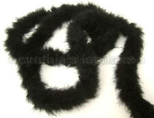 "75g MidNite bLacK marabou feather boa 2""W 10Yard Trim"