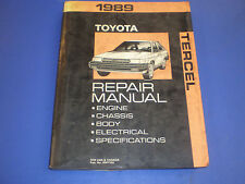 1989 TOYOTA TERCEL EZ DLX COUPE LIFTBACK EL31 Factory Shop Service Repair Manual