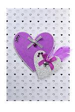 Très Jolie Carte Postale 3D - Carte Amour Mariage Coeurs Fabricum