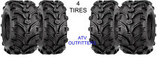 HONDA TRX 350 RANCHER 4x4 24x8-12 Front / 24x9-11 Rear ATV 6 PLY Tires Set of 4