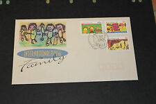 AUST 1994 INTERNATIONAL YEAR OF THE FAMILY SET OF 3  SHEET  ON  FDC MINT COND