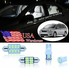 15-pc Bright White LED Lights Interior Package Kit For Toyota Sienna 04-16