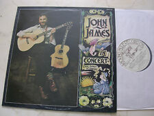JOHN JAMES In Concert 1978 UK LP KICKING MULE LABEL