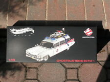 Ghostbusters Ecto 1 Hotwheels Elite 1:18 Diecast Mattel 2011 First Release New