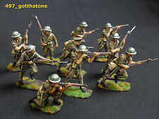 airfix conversions 1/32 painted WW1 british infantry 54mm. display standard