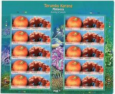 MALAYSIA STAMP 2013 LIVING CORAL UNDERWATER LIFE REEF ANIMAL MARINE FULL SHEET