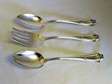 3 Pieces Antique 1911 FAIRMOUNT CARROLLTON Silverplate Tablespoons & Meat Fork