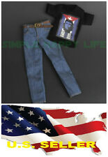 ❶1/6 clothes Che Guevara Revolution graphic T shirt Jeans Hot toys USA❶