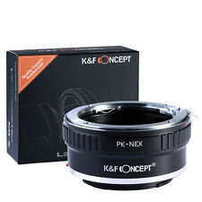 K&F Metal pentax K PK Mount Lens to Sony Alpha NEX E Mount Adapter NEX-F3 Nex-5N
