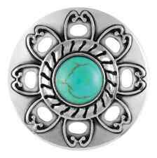 BUY 4, GET 5TH $6.95 SNAP FREE GINGER SNAPS™ TURQUOISE FLOWER CUT-OUT SN29-32