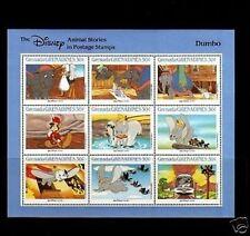 GRENADA - 1987 - DISNEY - DUMBO - ANIMAL STORIES - MINT - SHEET OF 9!