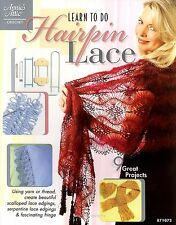 Learn to do Hairpin Lace Book Crochet patterns Edgings Doily Stole Afghans Hat