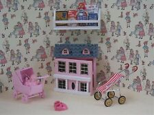 1:12th Scale 6 Piece Pink Nursery Toy Box Set Dolls House Miniature Bedroom BS22