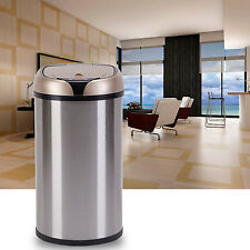 12L Automatic Sensor Trash Can Touchless Motion Garbage Lid Kitchen New