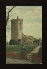 Lincolnshire Lincs FOSTON Church near Grantham Used 1908 PPC