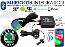 Skoda Bluetooth streaming handsfree calls CTASKBT001 AUX USB iPhone Sony Samsung