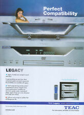 TEAC Legacy AG-L800 Sound & Vision 2003 Magazine Advert #3321