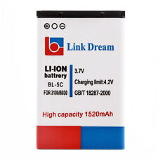 1520mAh Battery BL-5C for Nokia 2310 3100 6030 6230 3120(BR-5C) XD