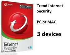 Trend Micro Internet Security 2017-2018 3 Computer 1 Year Window 7 8 10 Firewall