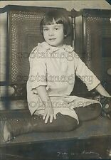 1917 Pioneer Aviator Russell Thaw at Age 7 Press Photo