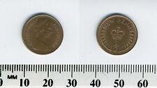 GREAT BRITAIN 1974 -  1/2 New Penny Bronze Coin - Queen Elizabeth II